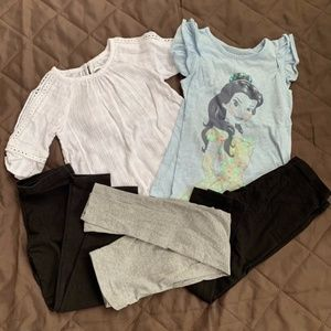 Disney-Old Navy-Faded Glory Bundle Girls Size 6